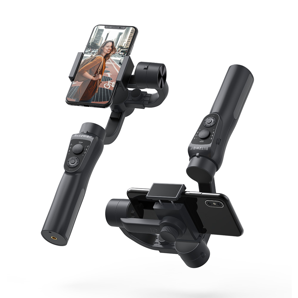 BlitzWolf BW BS14 3 осевой портативный Bluetooth стабилизатор карданного подвеса для iPhone Youtube Vlog Xiaomi Huawei Мобильные телефоны Смартфон Прямая трансляция В... - 3