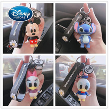 Disney Cute Cartoon Keychain Mickey Mouse Donald Duck Tigger Stereo Key Ring Mobile Phone Pendant Keychain Accessorie Decoration