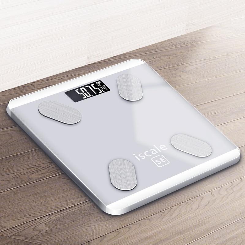 Balance de graisse corporelle Bluetooth balance de graisse corporelle intelligente balance de poids électronique balance de santé smart digital verre trempé