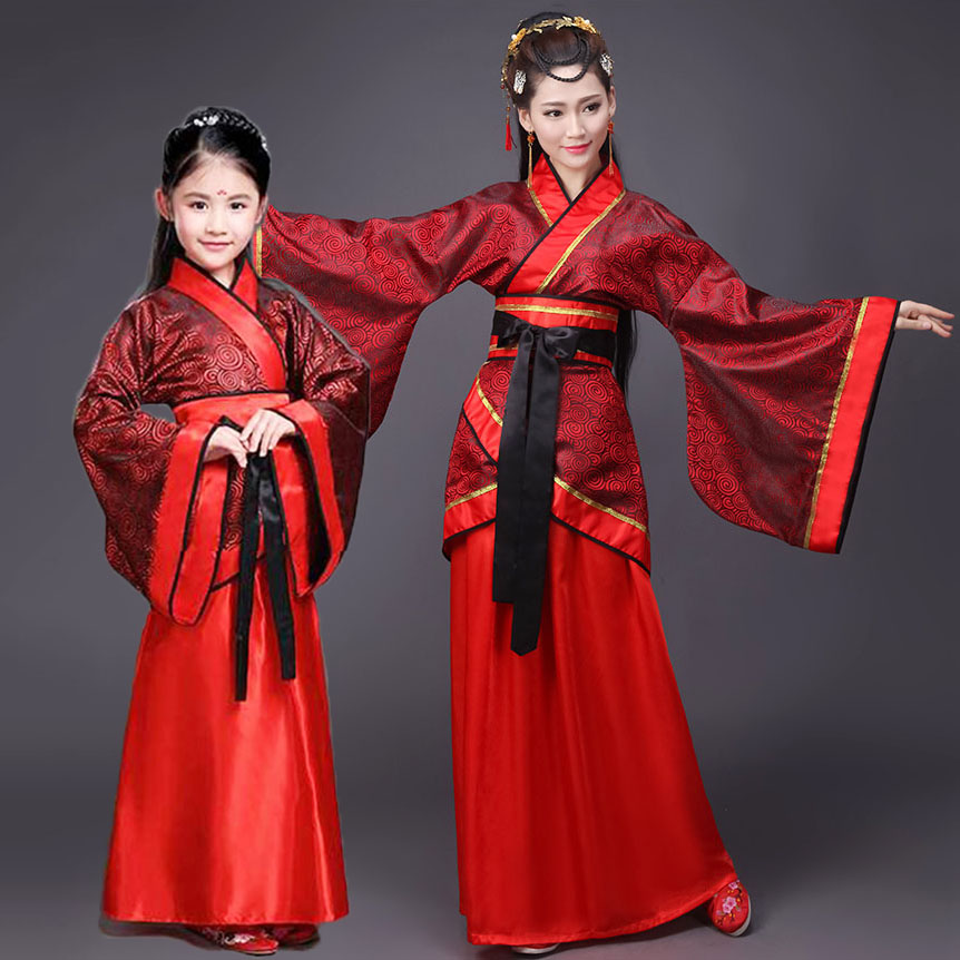 3PCS SET!! Chinese Princess Chaise Adult Fantasy Clothes Carnival Cosplay Women Halloween Costume Outfits Kids Dresses For Girls