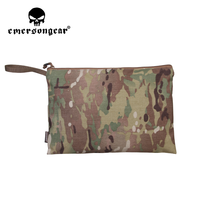 Emersongear 13x9 inch File Pocket Bag Pouch Loop & Hoop for Tactical Airsoft Hunting Game Outdoor Activity Business Daily EM9328