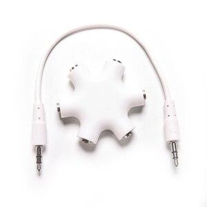 Струйное 3,5 мм 6 способ Порты мужской на возраст 2, 3, 4, 5, Женский аудио разъем для наушников разветвитель Адаптер HUB 8 дюймов Шнур кабель 1 шт.