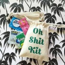 bachelorette party favors custom OH SHIT KIT bag glitter welcome hangovers Bags groomsman gift bags Emergency Kit