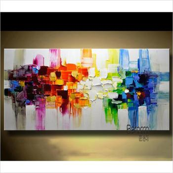 Abstract Color Pattern Painting Hand Painted Oil Painting Modern Fashion Home Wall Decoration