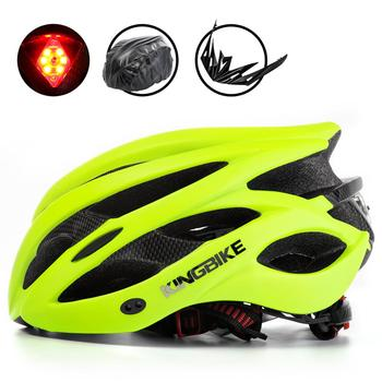Kingbike 2019 novo design preto capacetes de bicicleta mtb mountain road ciclismo capacete da bicicleta casco ciclismo tamanho L-XL 1
