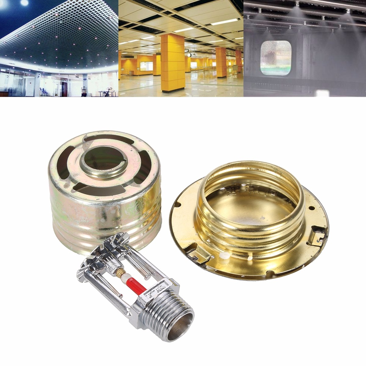 Type Sprinkler Head With Cover For Fire Extinguishing System Protection For Fire Extinguishing System Protection Sprinkler