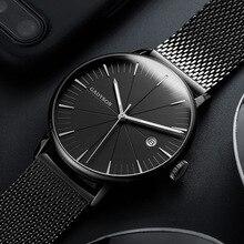 Reloj de cuarzo ultradelgado para hombre, relojes de marca de lujo de malla de acero, reloj deportivo resistente al agua para hombre erkek kol saati 2020
