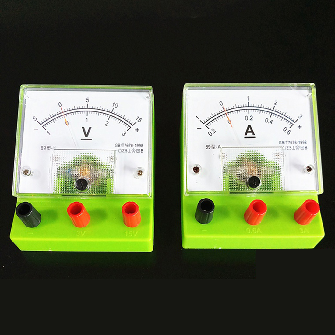 DIY Ammeter Voltmeter/ Volt Meter Physical Electrical Circuit Experiment Equipment For High School Students