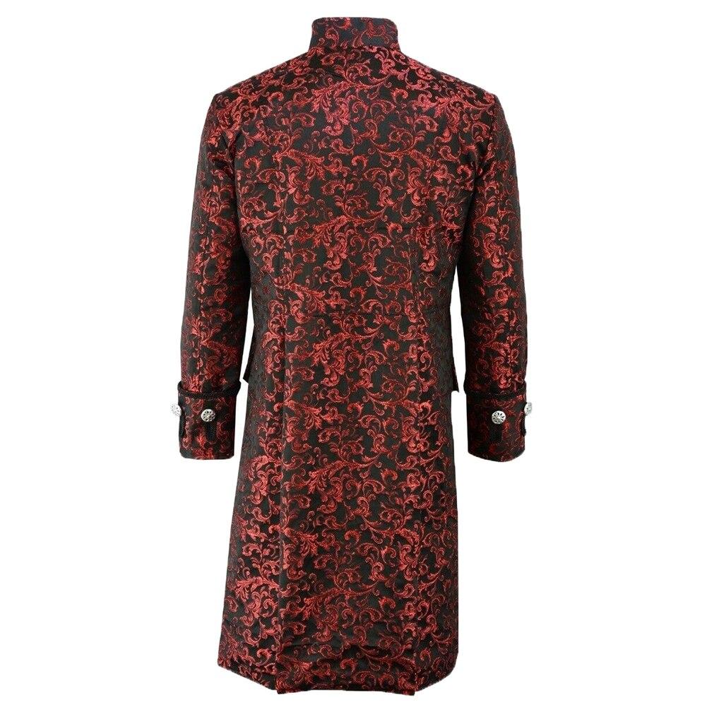 Hbc4142e657324b618b5b32ada488c40bf New Men's Vintage Tailcoat Jacket Gothic Steampunk Long Sleeve Jacket Victorian Dress Jacket Halloween Casual Button Clothing