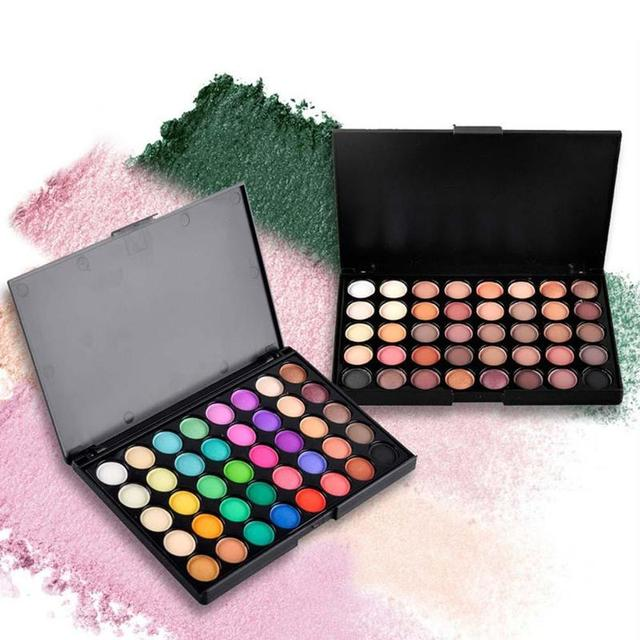 40 Color Eyeshadow Pallete Warm Color Smoky Makeup Palette Matte Multicolor Eyeshadow Palette Lasting Professional 1pc
