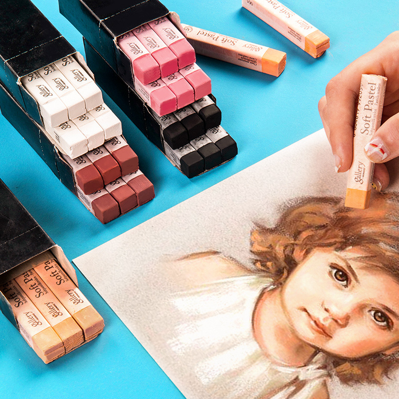 Korea Painting Crayons Soft Pastel Skin Colors Set Profession Art Drawing Set Chalk Color Crayon Brush Stationery For Students
