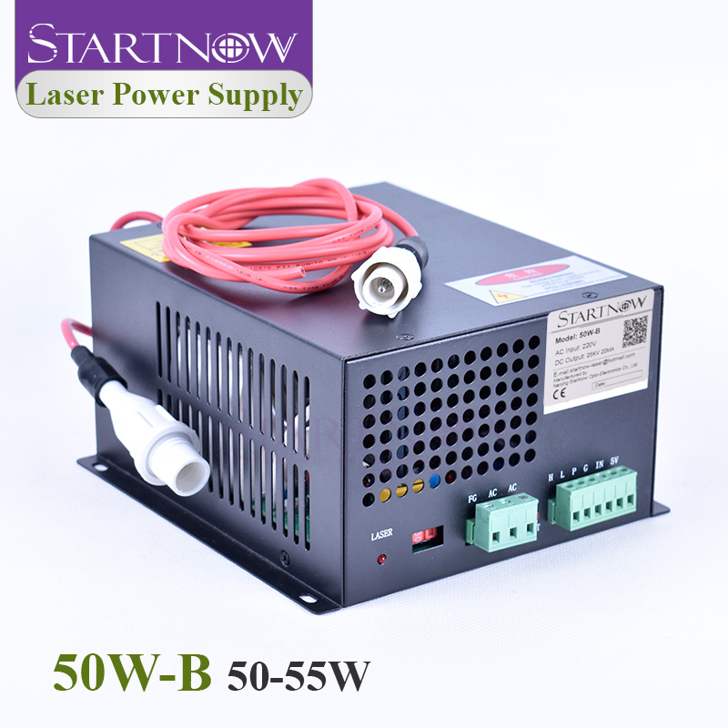 Startnow 50W-B 50W CO2 Laser Power Supply 45W 220V/110V For MYJG-50 Laser Carving Cutting Machine Equipment Accessories 55W PUS