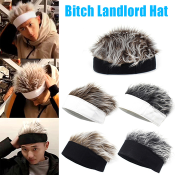 Men Women Beanie Wig Hat Fun Short Hair Caps Breathable Soft for Party Outdoor d88 image