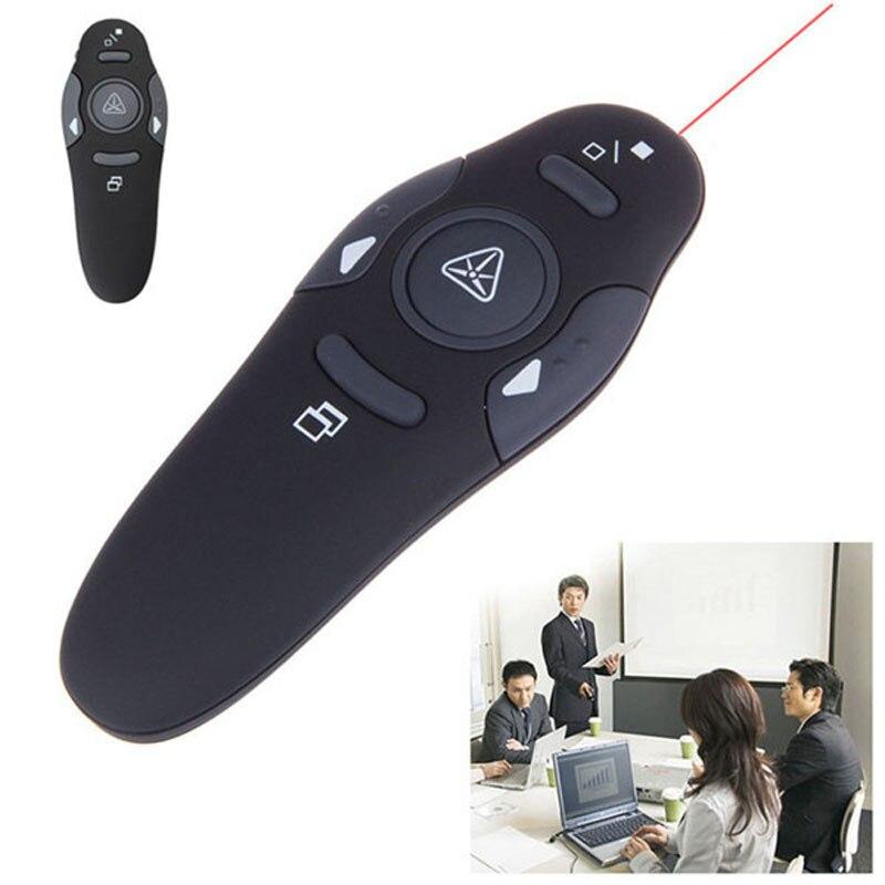2.4Ghz RF wskaźnik bezprzewodowy USB power point pilot zdalnego sterowania pióro laserowe bezprzewodowy pilot zdalnego czerwony wskaźnik laserowy