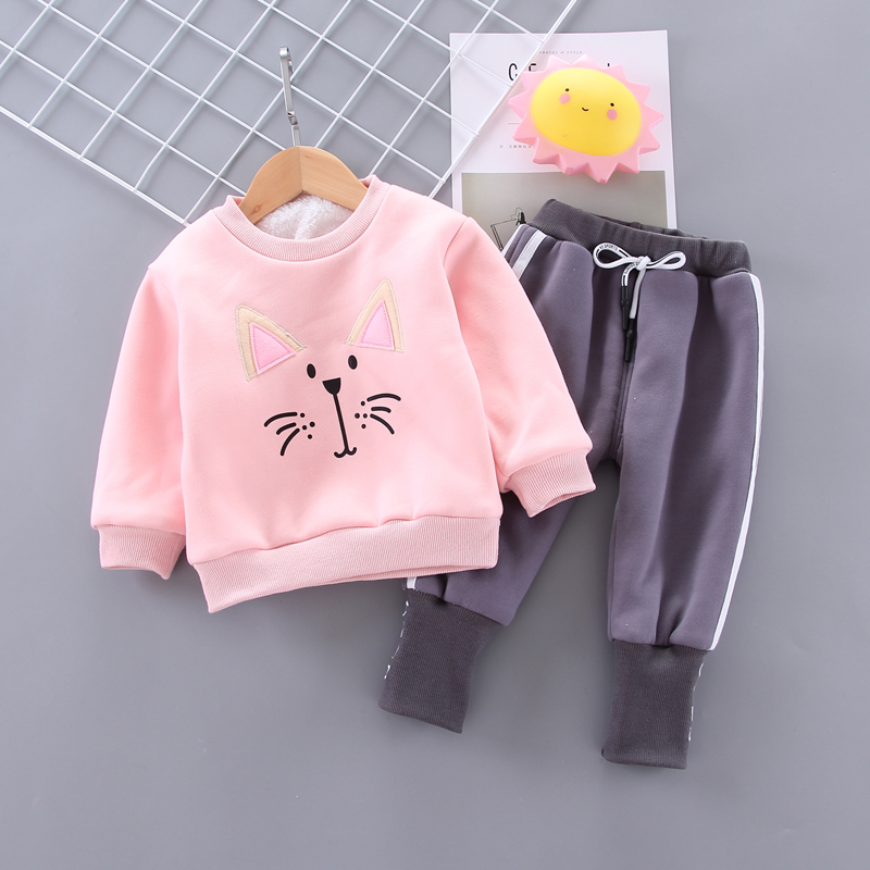 Toddler Infant Boys Girls Winter Clothes Outfits 1-4 Years OldBear T-Shirt Tops Sweatshirt Pants Trousers Set