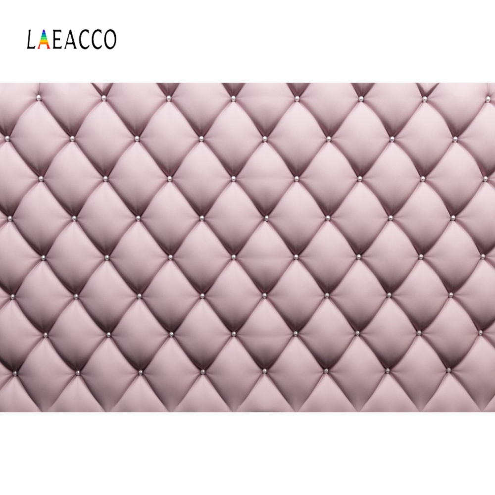 Laeacco Headboard Diamond Leather Luxury Portrait Photography Backgrounds Customized Photographic Backdrops For Photo Studio