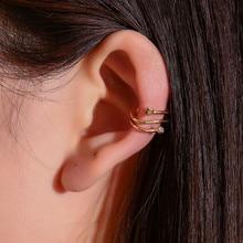 цена на Luokey Small Cute Ear Cuff Brincos For Women Tiny Star No Pierced Ear Clip On Earrings Punk Jewelry Accessories Ear Wrap Earcuff