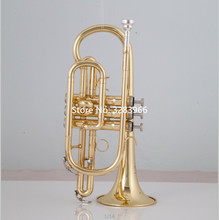 High Quality Bach Golden Bb Cornet trumpet brass with Case and Mouthpiece Musical instruments
