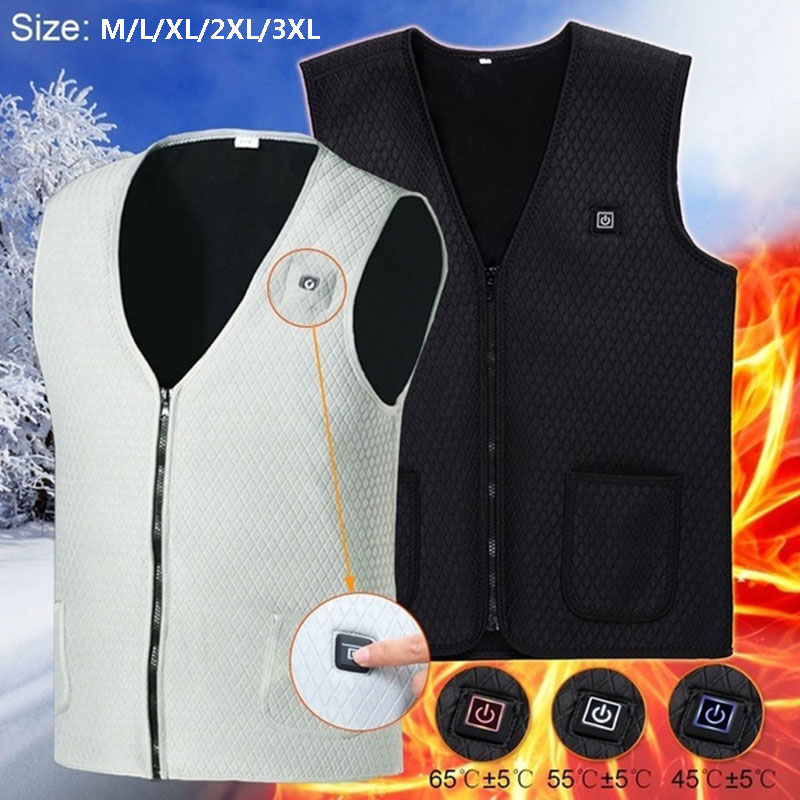 Electric Vest Heated Jacket Heated Heated Pad 2018 Clothing Physiotherapy Body Warmer Warm USB Thermal Winter