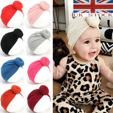 Gran oferta niños niñas turbante lazo nudo cabeza envoltura oreja conejo gracioso sombrero algodón gorra oreja conejo gracioso accesorios de envoltura sólida