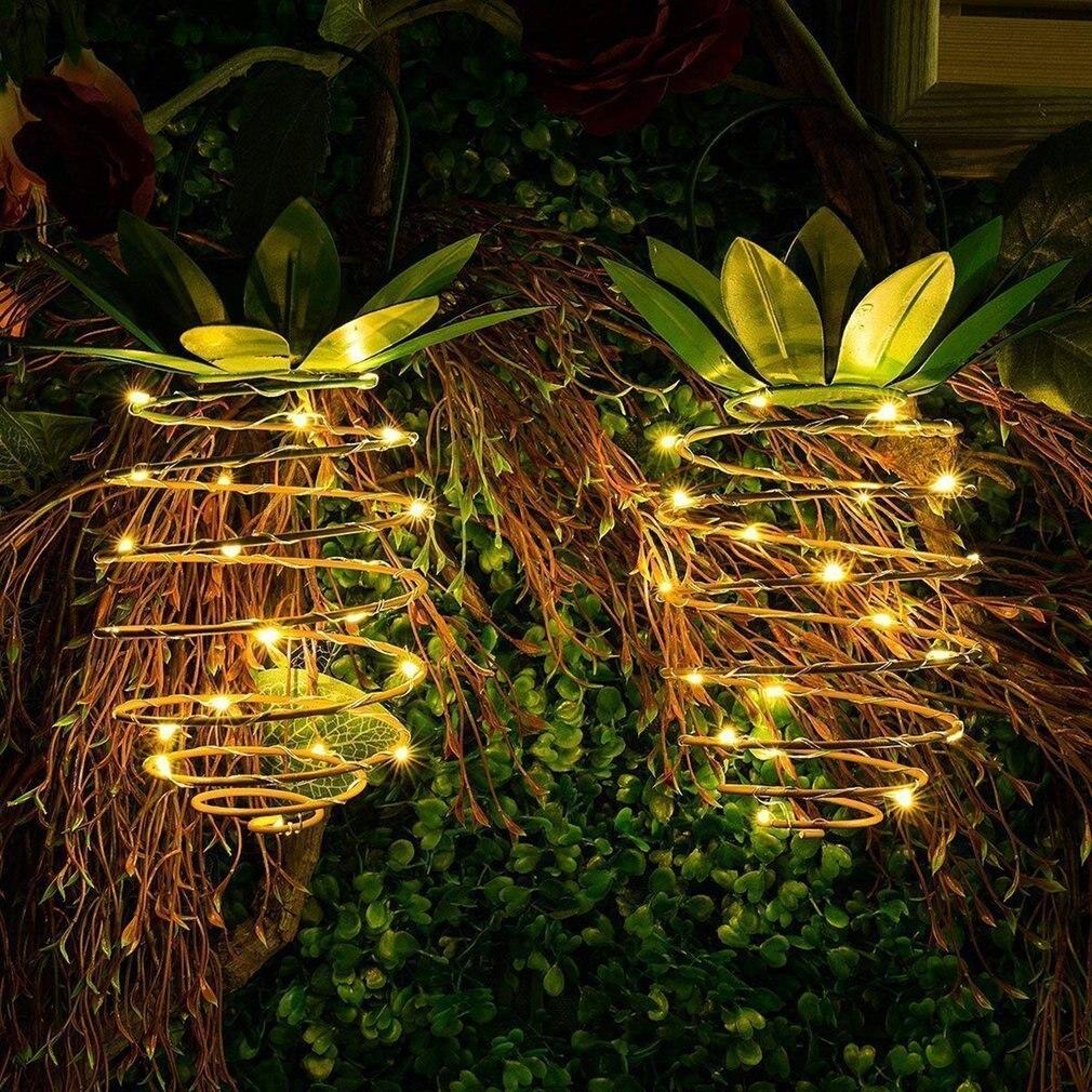 Solar Garden Lights Pineapple Shape Fairy Night Lights Outdoor Hanging Light