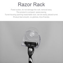 Plastic Super Suction Cup Razor Rack Bathroom Razor Holder Suction Cup Shaver Storage Rack Shaving Razor Holder(China)