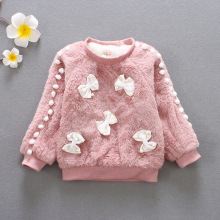 BibiCola/зимний свитер для девочек; одежда с длинными рукавами для девочек; детский зимний свитер для девочек; детское модное пальто-свитер с бантом
