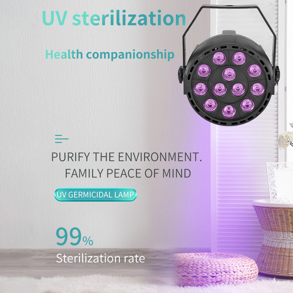 48W Uv Light Sterilizer Room Lamp Uvc Disinfection Lamp LED Ultraviolet Germicidal Anti Virus Lights Mite Purifying Sterilizer
