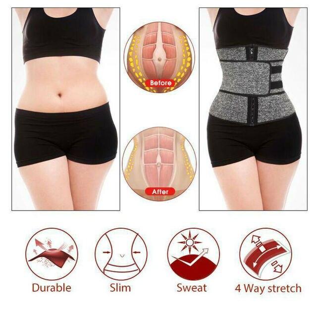 Waist Trainer Cincher Trimmer Sweat Belt Fitness Shaper Men Women Shapewear 5