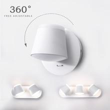 360 градусов регулируемый светодиодный настенный светильник прикроватный настенный светильник для гостиной настенный светильник современный настенный светильник-бра для гостиницы