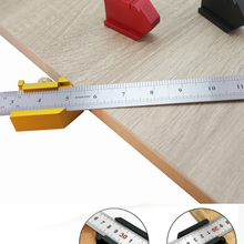 Marking-Gauge Ruler Scriber-Line Positioning-Block 90-Angle Locator 45 for DIY Carpentry