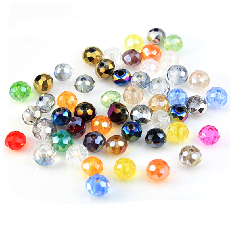 1//5pcs 20mm Round Faceted Crystal Glass Loose Spacer Beads DIY Jewelry Making