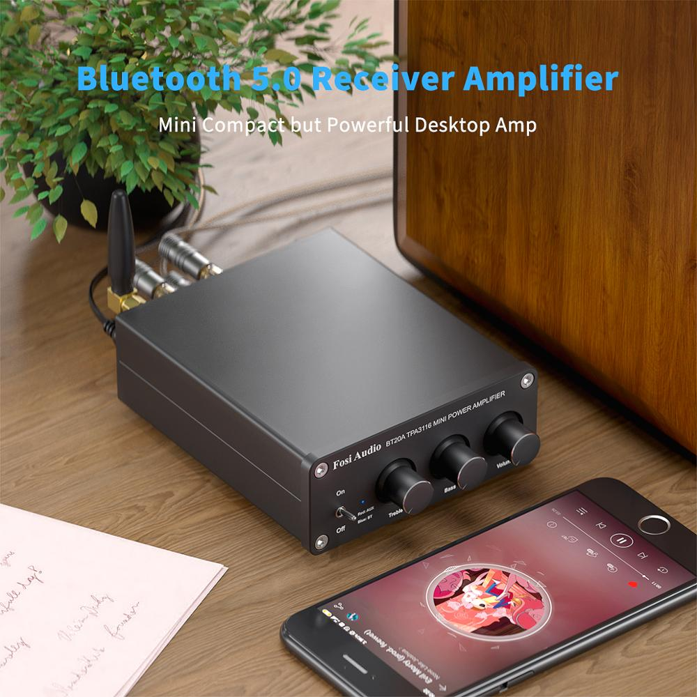 Усилитель мощности Fosi Audio BT20A, с поддержкой Bluetooth TPA3116D2, 100 Вт 2