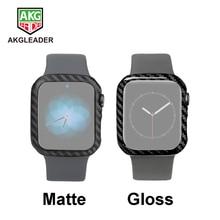 Чехол из углеродного волокна для Apple Watch Series 5 4 40 мм 44 мм, роскошный защитный чехол для Apple Watch 1 2 3 38 мм 42 мм, чехлы для часов, рамка