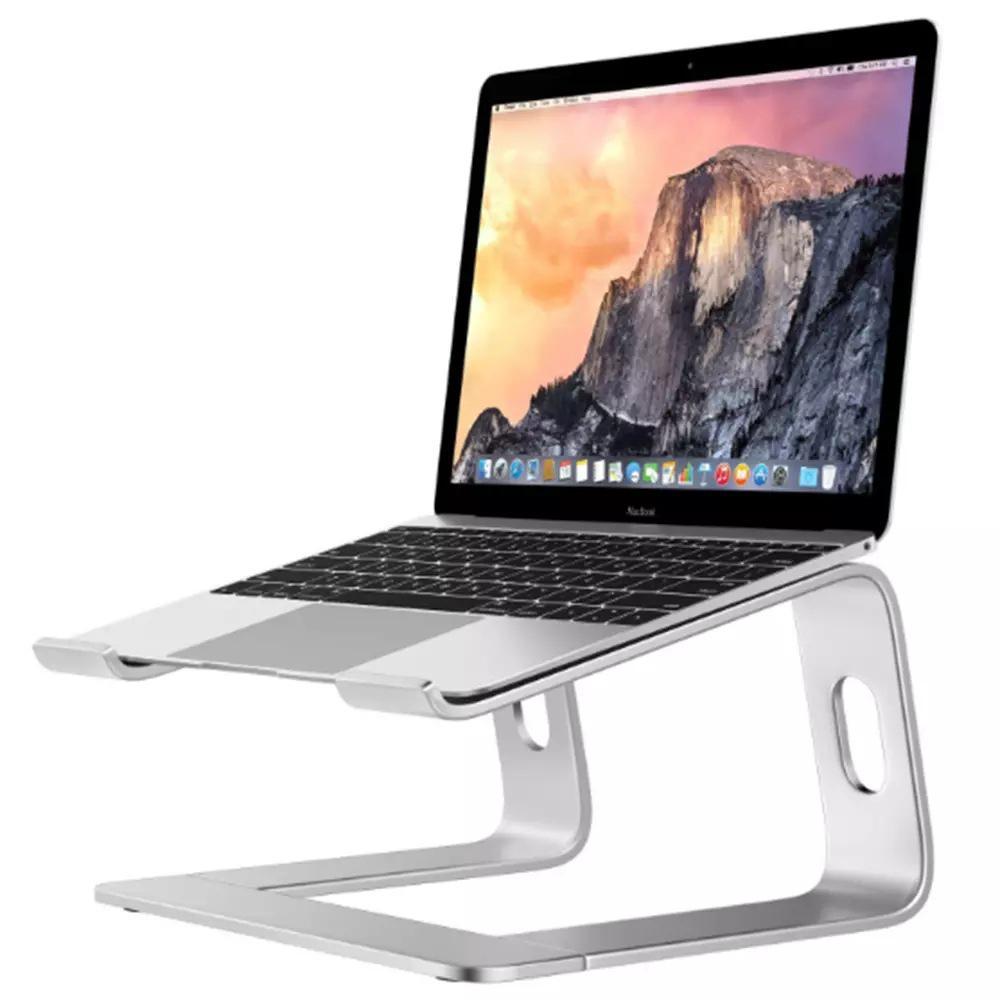 GloryStar Алюминий сплав держатель для ноутбука поднять настольных компьютеров и металлическое основание рассеивания тепла противоскользящая