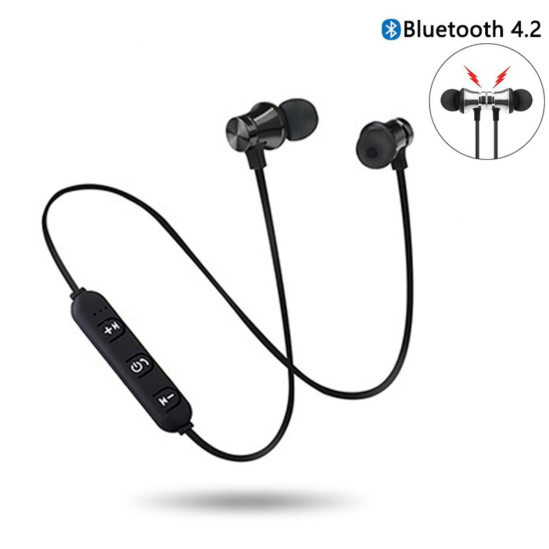 Magnetic Wireless Bluetooth Earphone Music Headset Phone Neckband Sport Earbuds Earphone With Mic For IPhone Xr Samsung Xiaomi