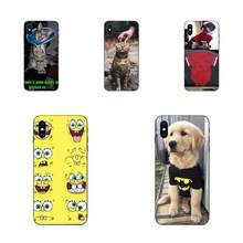 For Apple iPhone 4 4S 5 5S SE 6 6S 7 8 Plus X XS Max XR Phone Soft Shell Cat And Dog(China)