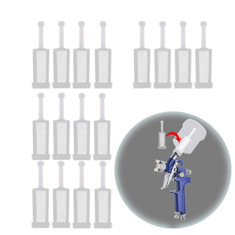16 Pcs Universal Gravity Spray-Gun Filters Fine Mesh,Disposable Gravity Feed Spray-Gun Paint Strainer