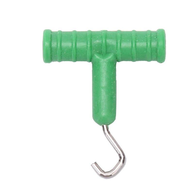 5 Cm Karpervissen Apparatuur Knoop Pull Tool Knoop Haak Puller Voor Karpervissen Rig Terminal Tackle T-Stype abs