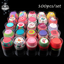 100pcs/set cake topper DIY Cake Paper Cup Birthday party Wedding Family Gathering Making Cupcakes supplies cake decorating tools
