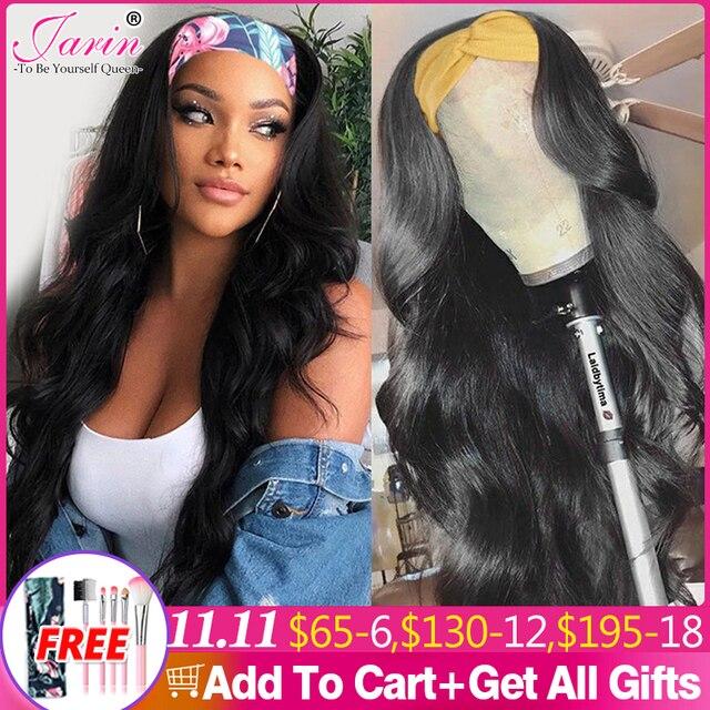 1 2 5 Pcs Lot Body Wave Wigs Headband Wig Brazilian Body Wave Headband Wig Natural Hair Chic Scarf Headband Wigs Jarin Hair