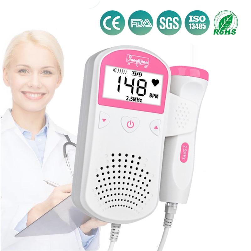 Fetal Doppler Fetal listen baby monitor right test medical no radiation pregnant women household quickened stethoscope(China)