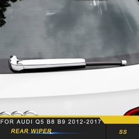 For Audi Q5 B8 B9 2012 2017 Car Styling Rear Window Rain Wiper Cover Frame Trim Sticker Exterior Accessories