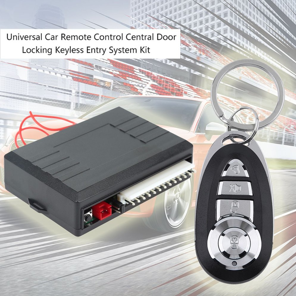 Universal Car Auto Remote Central Kit Door Lock Locking Vehicle Keyless Entry System New With Remote Controllers Accessory