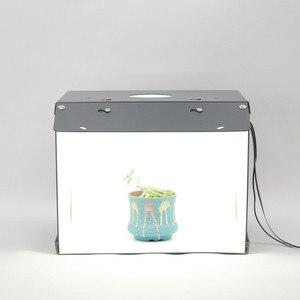 Image 2 - Nieuwe Sanoto Mini Photo Studio Box Fotografie Achtergrond Draagbare Softbox Led Licht Foto Doos Vouw Photo Studio Soft Box