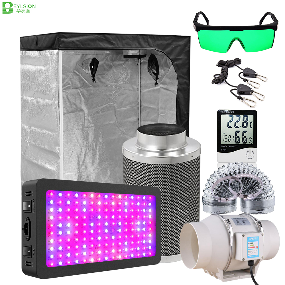 BEYLSION Growbox Grow Tent Full Kit Grow Light Lamps Set 4/5/6/8 Inch Centrifugal Fans Activated Carbon Air Filter For Plant(China)
