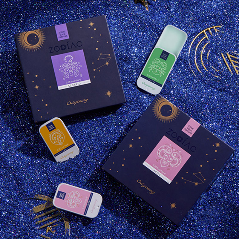10G Twelve Constellation Xingchan Balm Solid Deodorant Magic Perfume Exquisite Gift Box Packaging The Best Choice For Goddess
