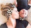 2020 мама и ребенок соответствия набор повязок 2 шт. мягкая бархатная плетеная футболки «Мама и я», повязка для волос для новорожденных повязк...