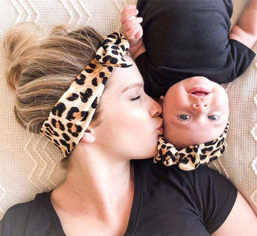 2020 mamãe e bebê combinando headbands conjunto 2 pçs macio nó de veludo mãe e me headwrap recém-nascidos hairbands