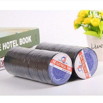 1pcs 20ft PVC Flame Retardant Insulating Tape Adhesive Roll Waterproof Black Vinyl Electrical Insulation Tape